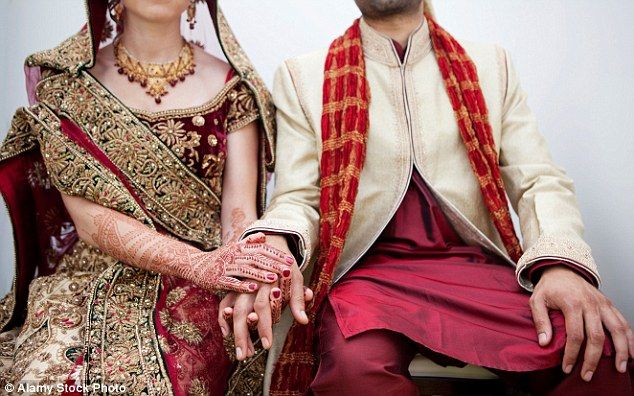 Punch drunk: The couple (not pictured) had exchanged garlands during the first part of the ceremony when the groom went to a nearby road to drink alcohol with his cousin until both fell unconscious