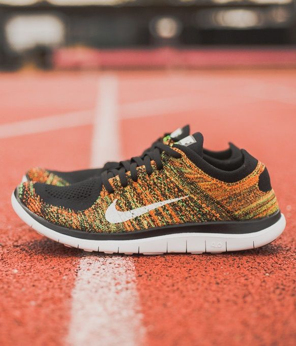 super popular 0d8fe a1930 Nike Free 4.0 Flyknit  Poison Green Total Orange
