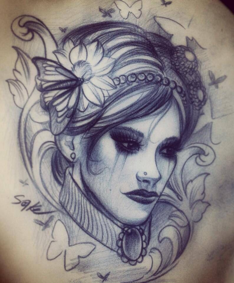 Tattoo idea. Love her eyes. There is so much beauty in darkness.