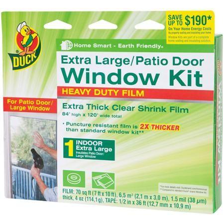 Buy Duck Brand Heavy-Duty Window Shrink Kit, Extra Large Patio Door in Cheap Price on m.alibaba.com