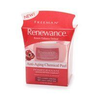 """FREEMAN Renewance Anti-Aging Chemical Peel, 1.7oz (50ml) by FREEMAN. $0.99. 92% Wrinkle Reduction. Renew  Enhance  Defend !  Densiskin® Polypeptide Complex, with exclusive """"Dermo-Relax"""" effect, increases lipids by 45%, skin's natural barrier and defense against water loss.  Plus Vitamins A & E protect against free radical damage.  Enhance.  Clinical tests prove Renewance gets results.  Renewance Anti-Aging Chemical Peel deeply exfoliates skin, reducing the appearance of fine ..."""