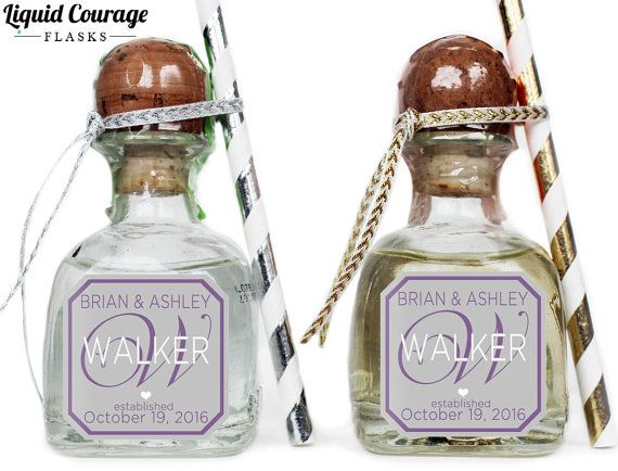 Custom Patrón Tequila Mini Bottle Labels By Liquidcourage On Etsy