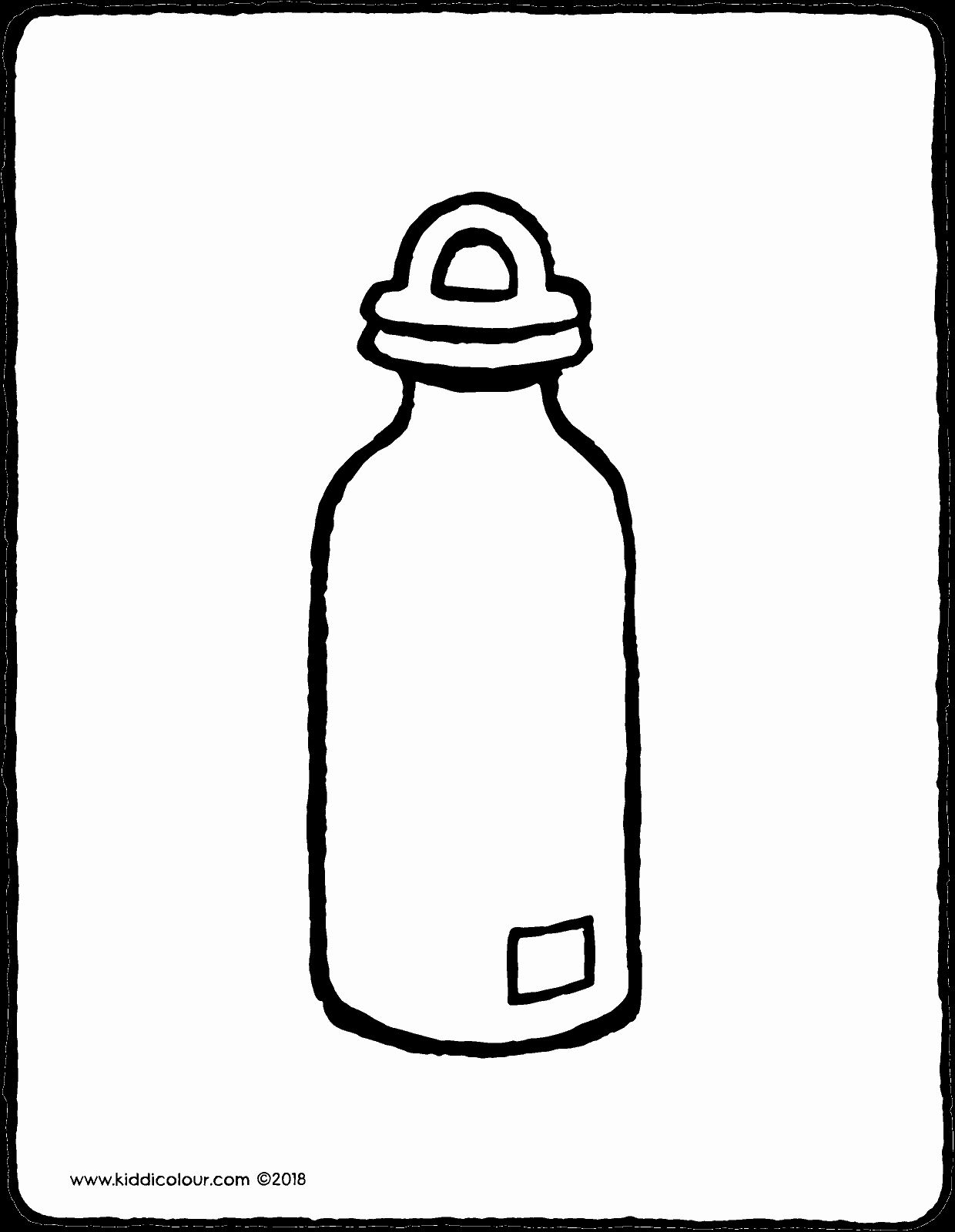 Water Bottle Coloring Page Lovely Water Bottle Kiddicolour In 2020