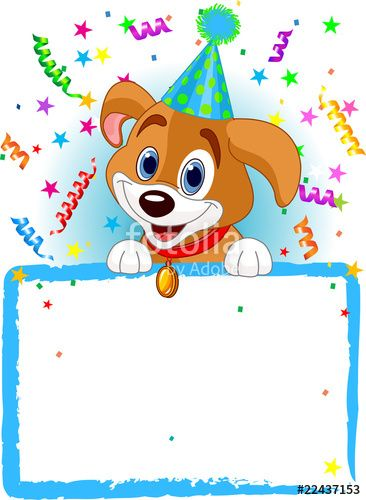 Download The Royalty Free Vector Baby Dog Birthday Designed By Anna Velichkovsky At Lowest Price On Fotolia Browse Our Cheap Image Bank Online To