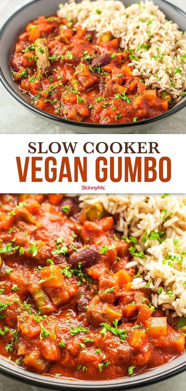 Slow Cooker Vegan Gumbo Recipe Recipe In 2020 Vegan Slow Cooker Recipes Gumbo Recipe Vegan Asian Recipes