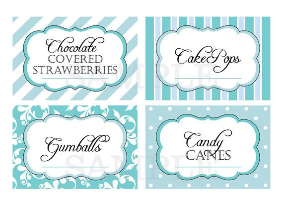 picture about Free Printable Buffet Food Labels called Reserved list for jcraigie Printable Sweet by means of