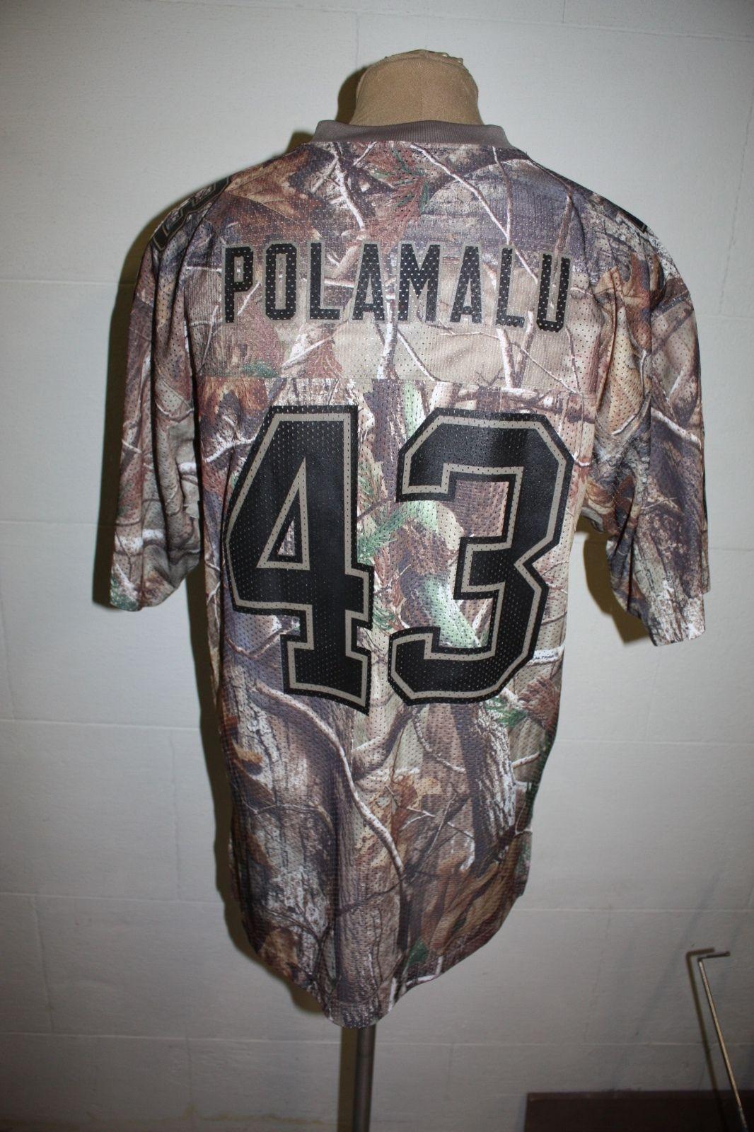 NFL Pittsburgh Steelers Troy Polamalu Reebok Jersey Mens Medium Camo NEW W/ TAGS