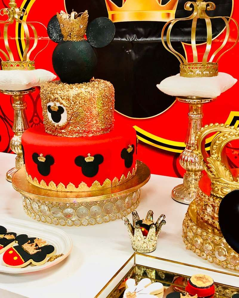 Mickey Mouse Royal King Birthday Party Ideas Mickey Birthday Cakes Mickey Mouse Baby Shower Fiesta Mickey Mouse
