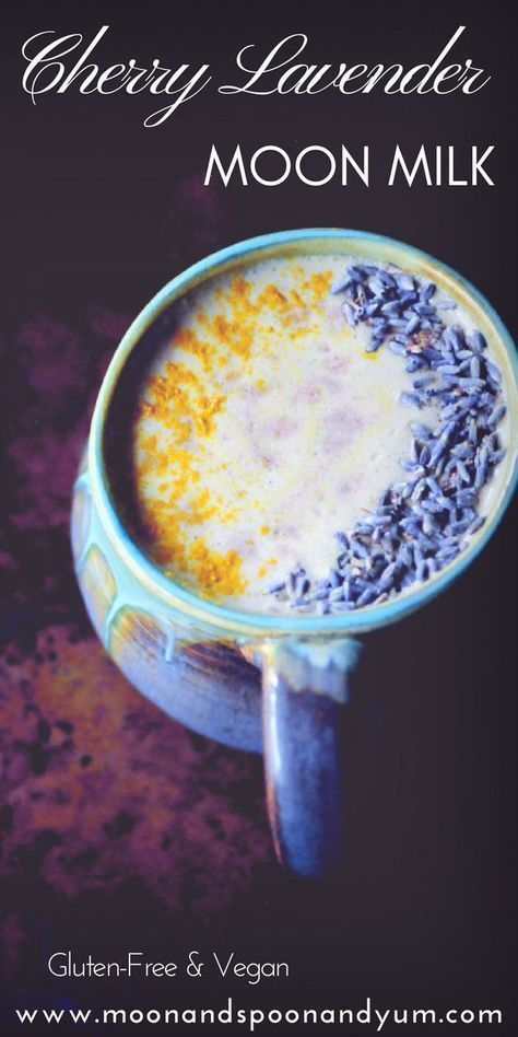 Cherry Lavender Moon Milk Recipe (Vegan) - MOON and spoon and yum
