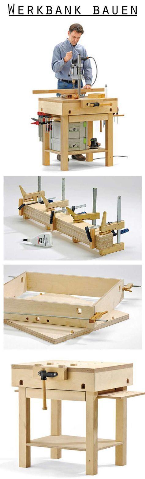 werkbank selber bauen holz basteln werkbank selber. Black Bedroom Furniture Sets. Home Design Ideas
