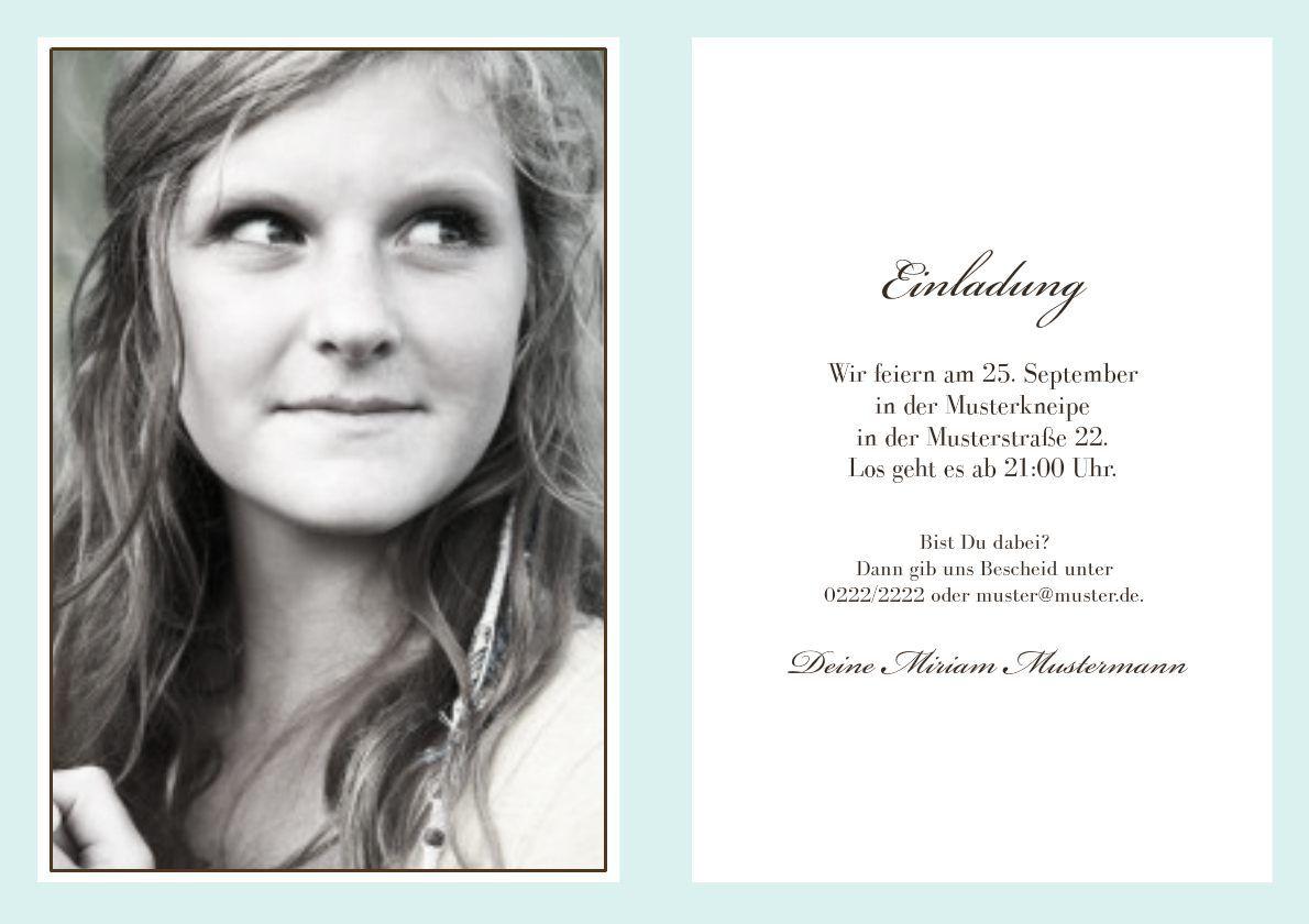Schön Einladung Geburtstag : Einladung 18 Geburtstag   Geburstag Einladungskarten    Geburstag Einladungskarten