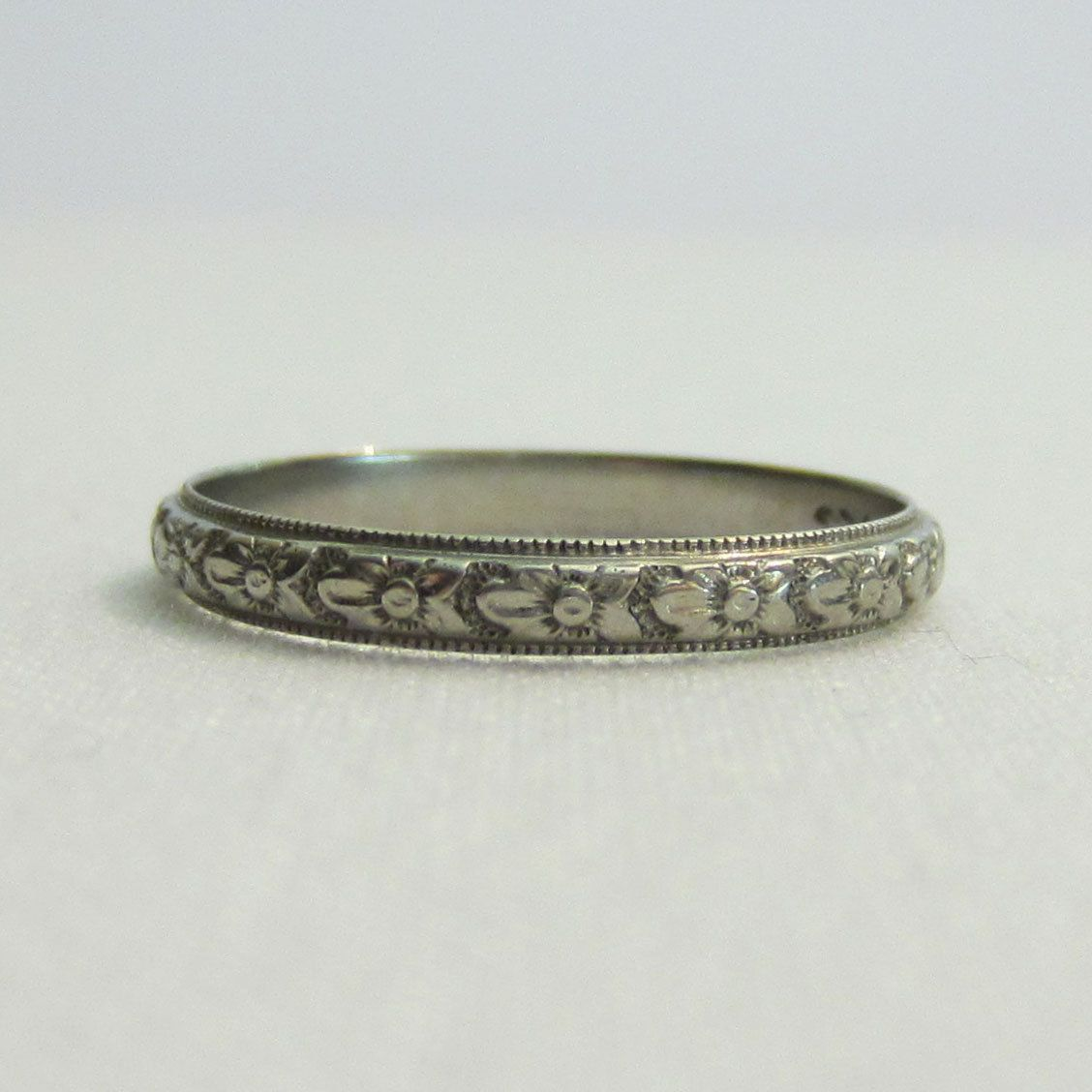 Vintage Wedding Rings 1920 | Vintage Wedding Ring, Orange Blossom Pattern. Rare Large Size, Circa ...