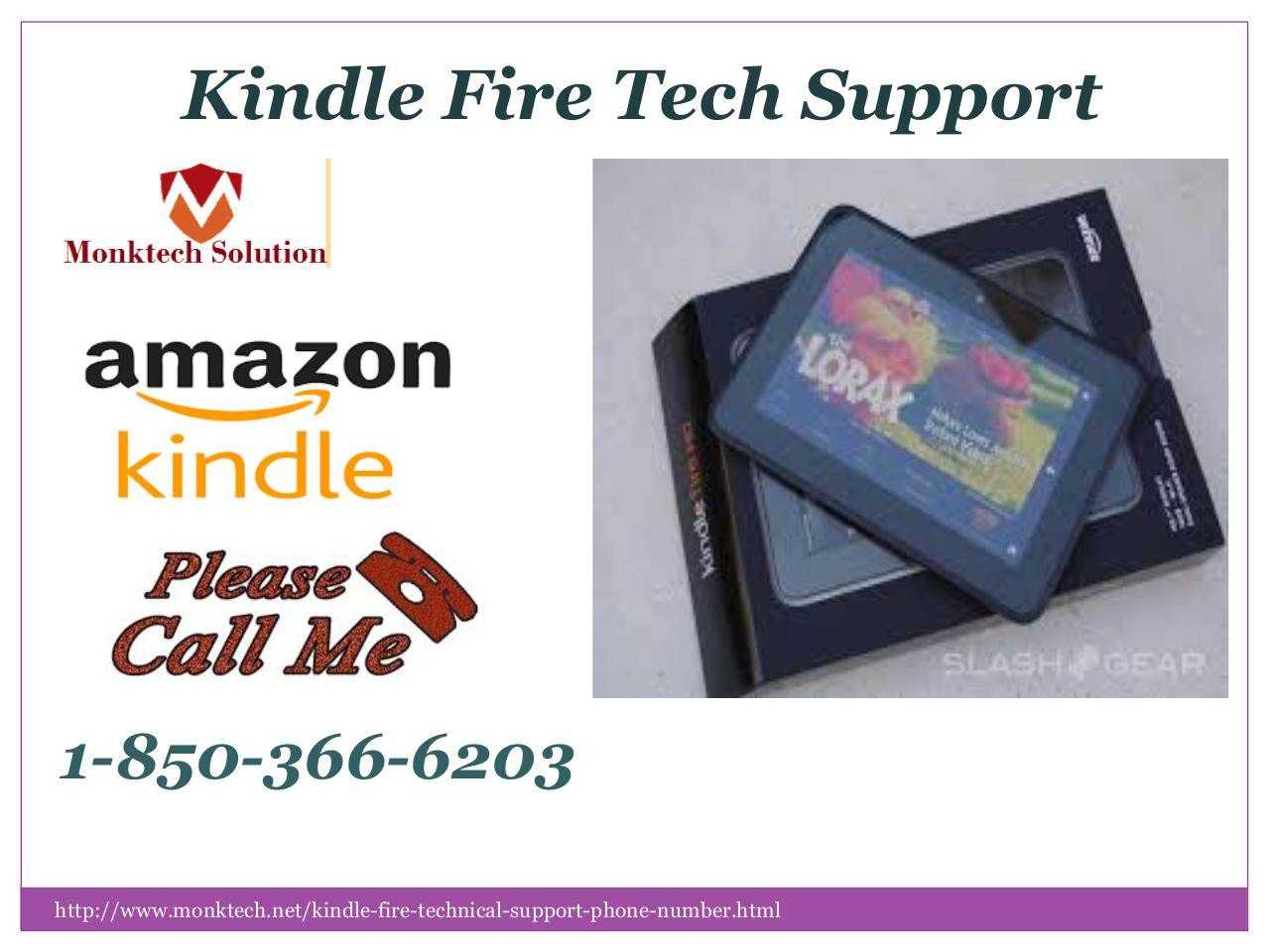 How do you employ the amazon kindle fire tech support 1 850
