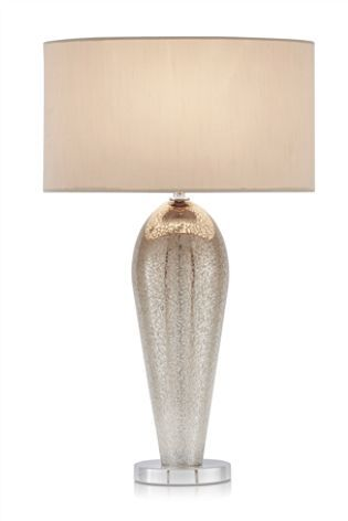 Champagne Ombre Glass Table Lamp Bedside Table Lamps Tall Table