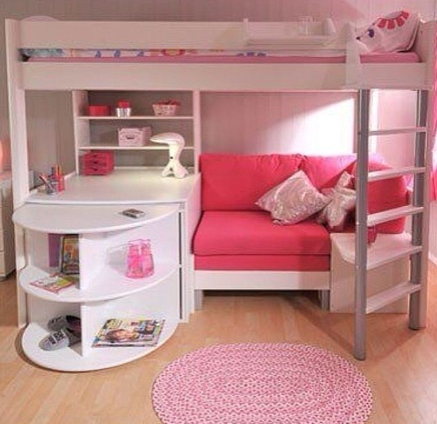 Buck Bed Couch Desk 3 In One Siera Place Bedroom Room Girls