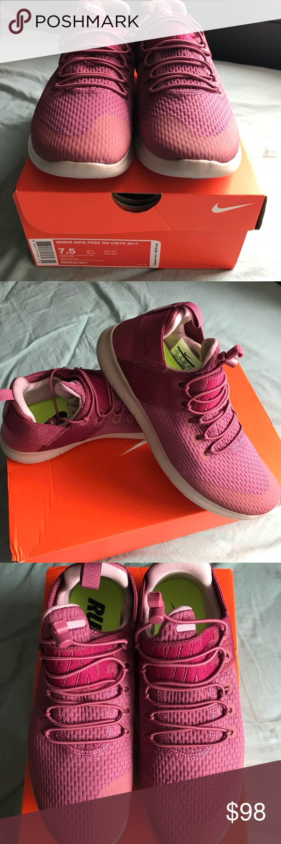 ae701b863165 WMNS Nike FreeRun Commuter 2017 Vintage wine Elemental rose color Nike free  run. Size 7.5. New never worn. I prefer my all black free runs over this