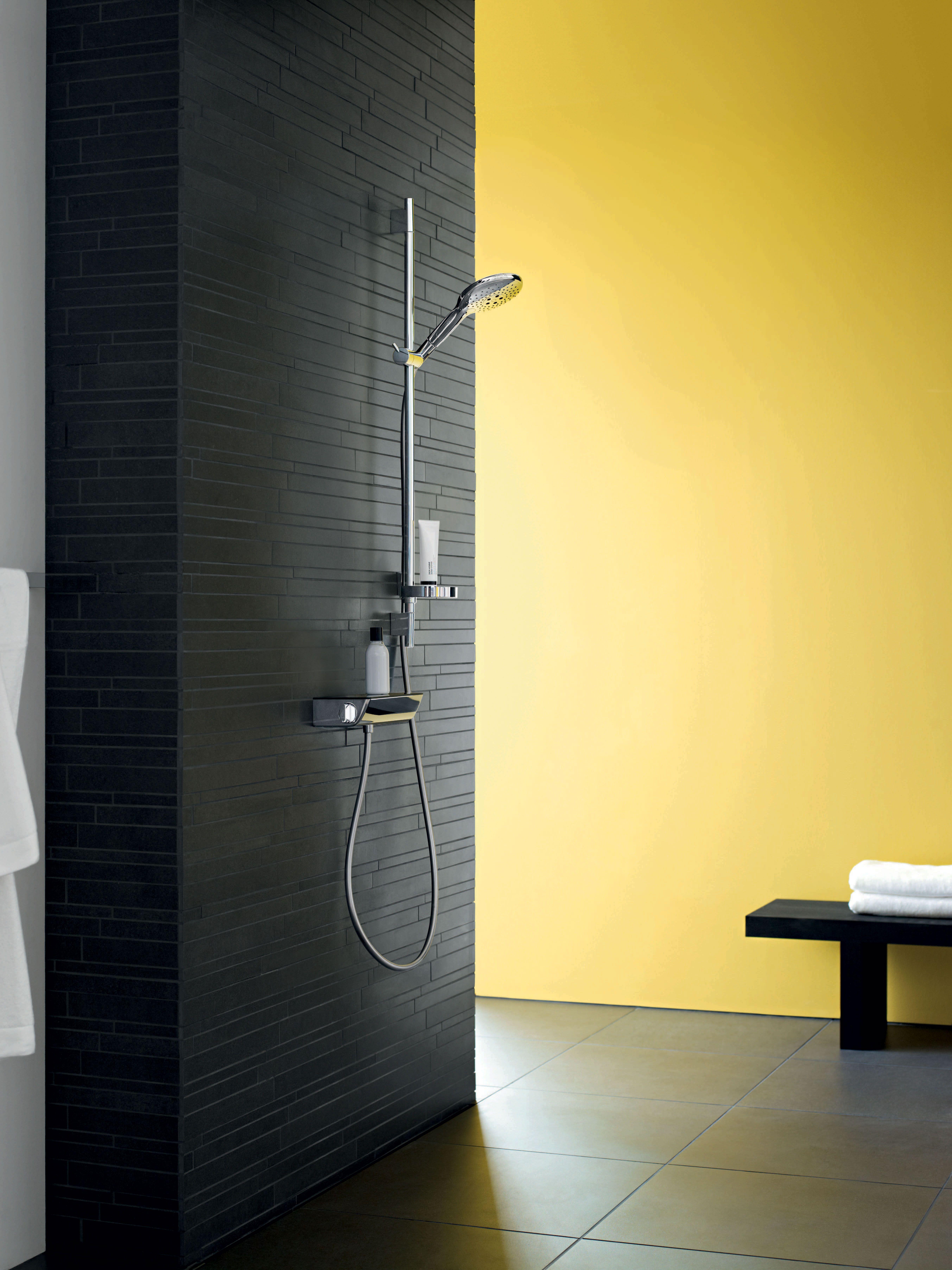 Hansgrohe Raindance Select Ecostat Exposed Thermostat With Raindance Select Handshower Modern Bathroom Shower Design Hansgrohe Raindance