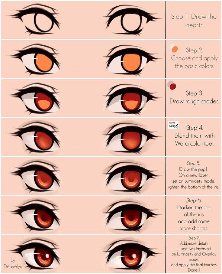 Cute green eyes Steps by Maruvie on DeviantArt