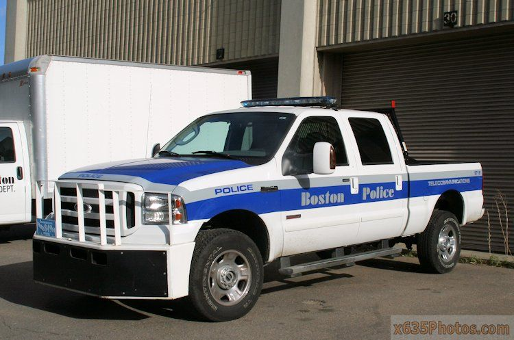Boston Ma Police Telecommuications Police Truck Boston Police Department Police Cars