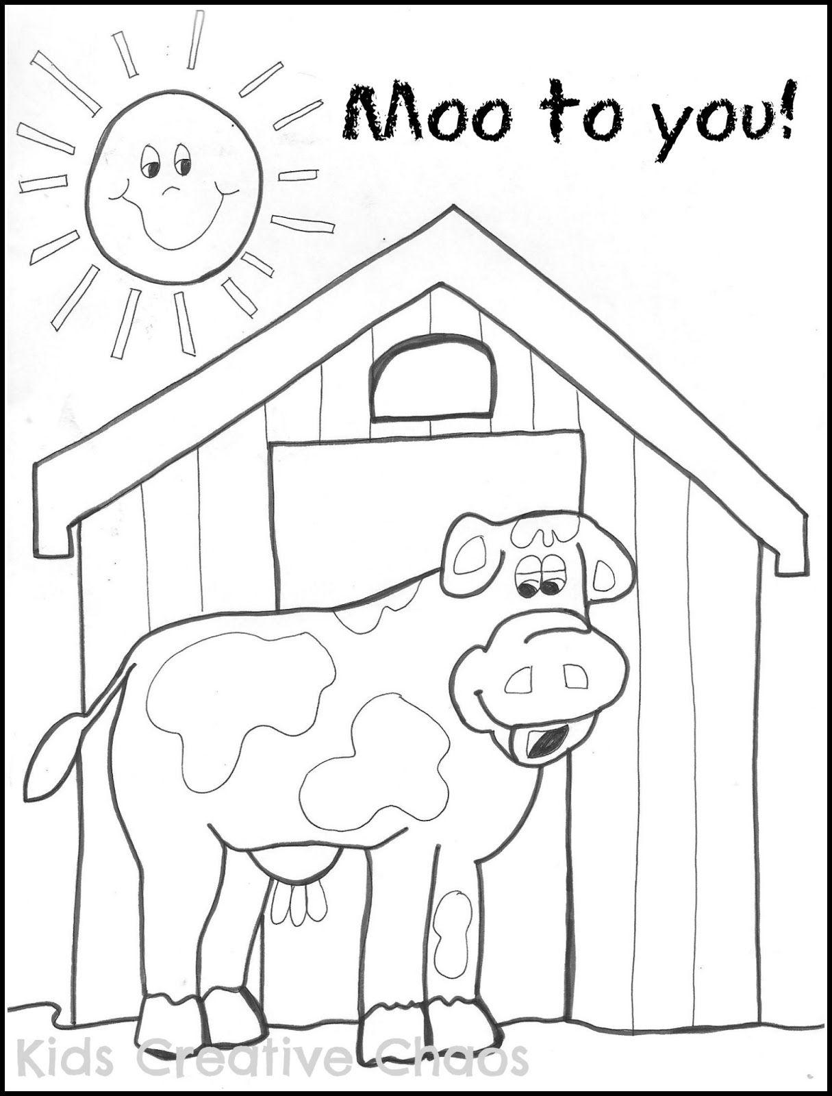 Big Red Barn Coloring Sheet 001 Jpg Farm Theme Preschool Big