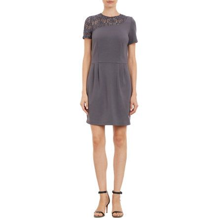 Barneys New York Asymmetric Lace Yoke Dress Sale up to 70% off at Barneyswarehouse.com