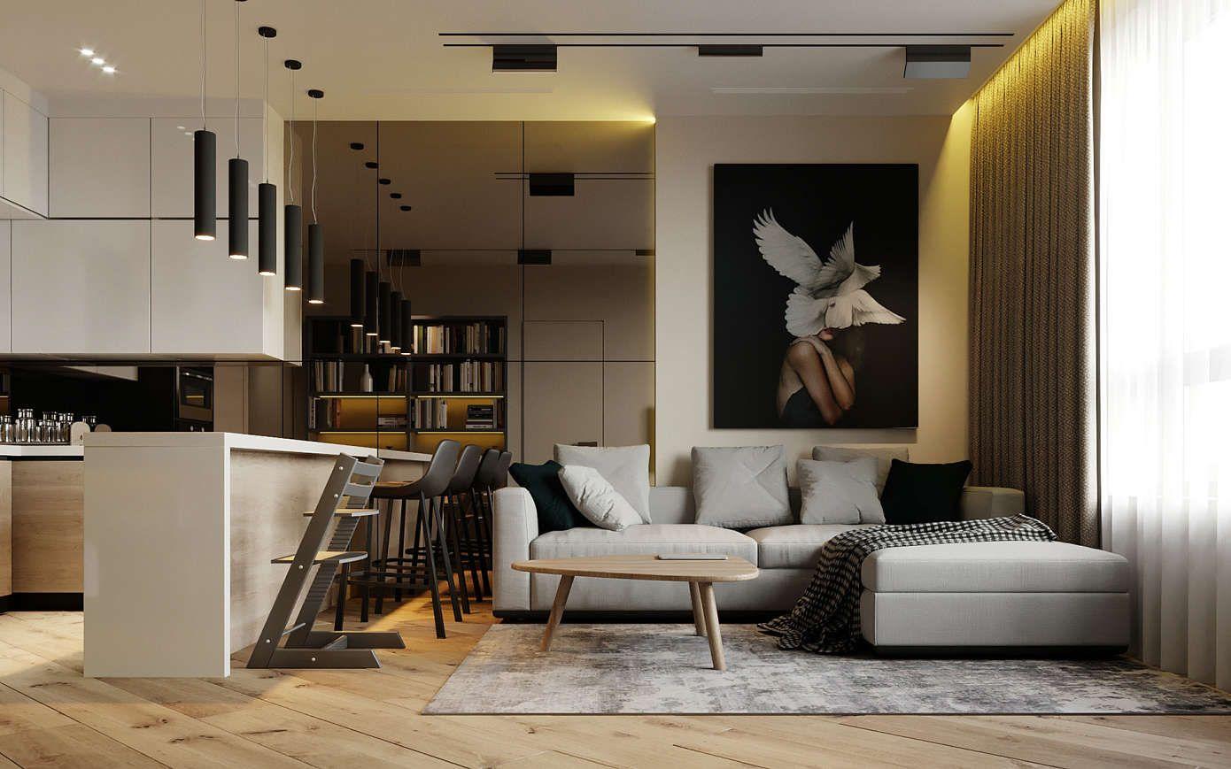 Contemporary Apartment By Prosvirin Design Homeadore