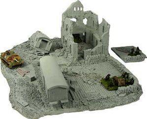 Frp Games Product 15mm Stalingrad Terrain Destroyed Railroad Station Foam Terrain Terrain Frp Games