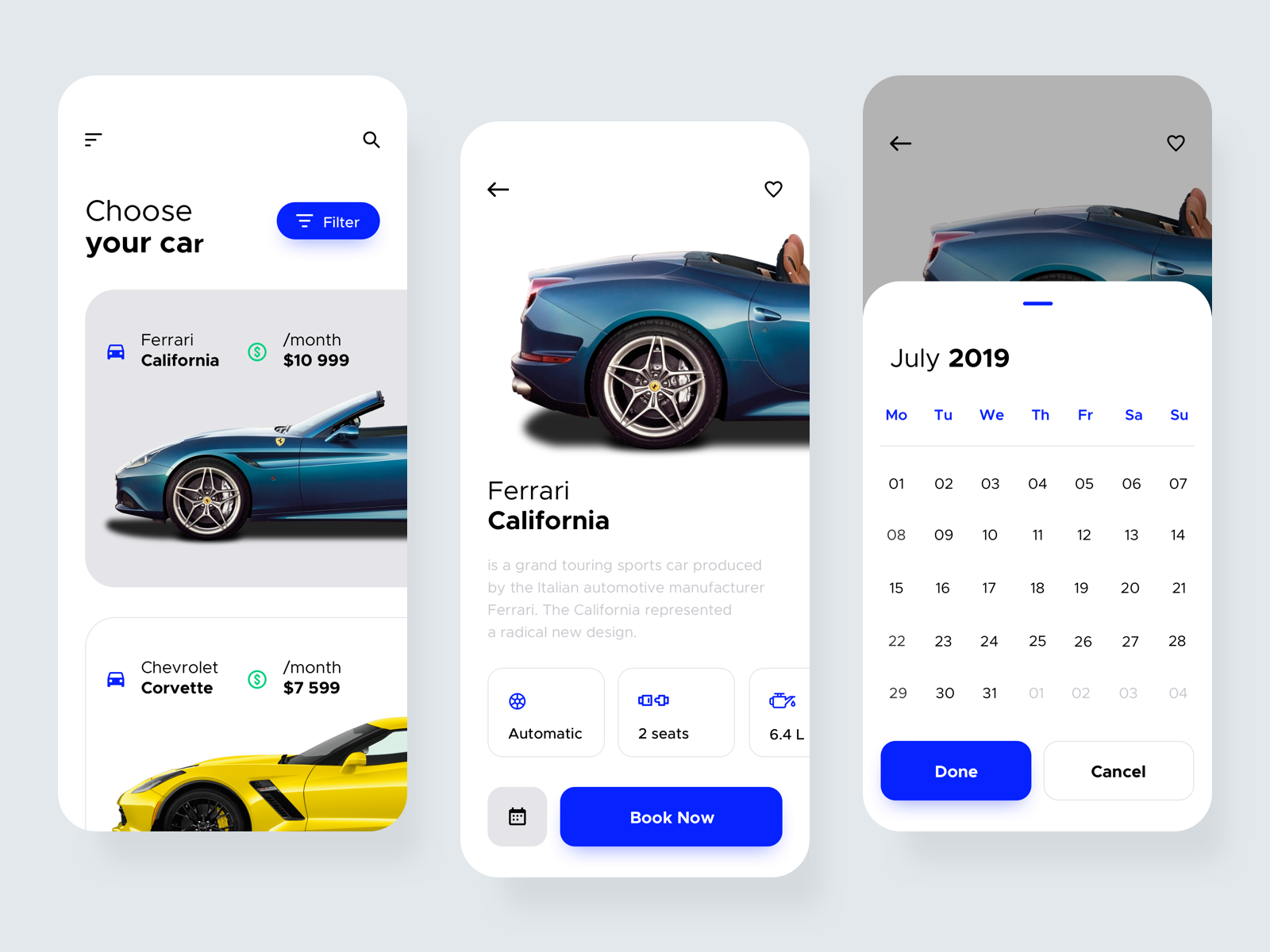 Car Rental Application Car rental, Mobile app design