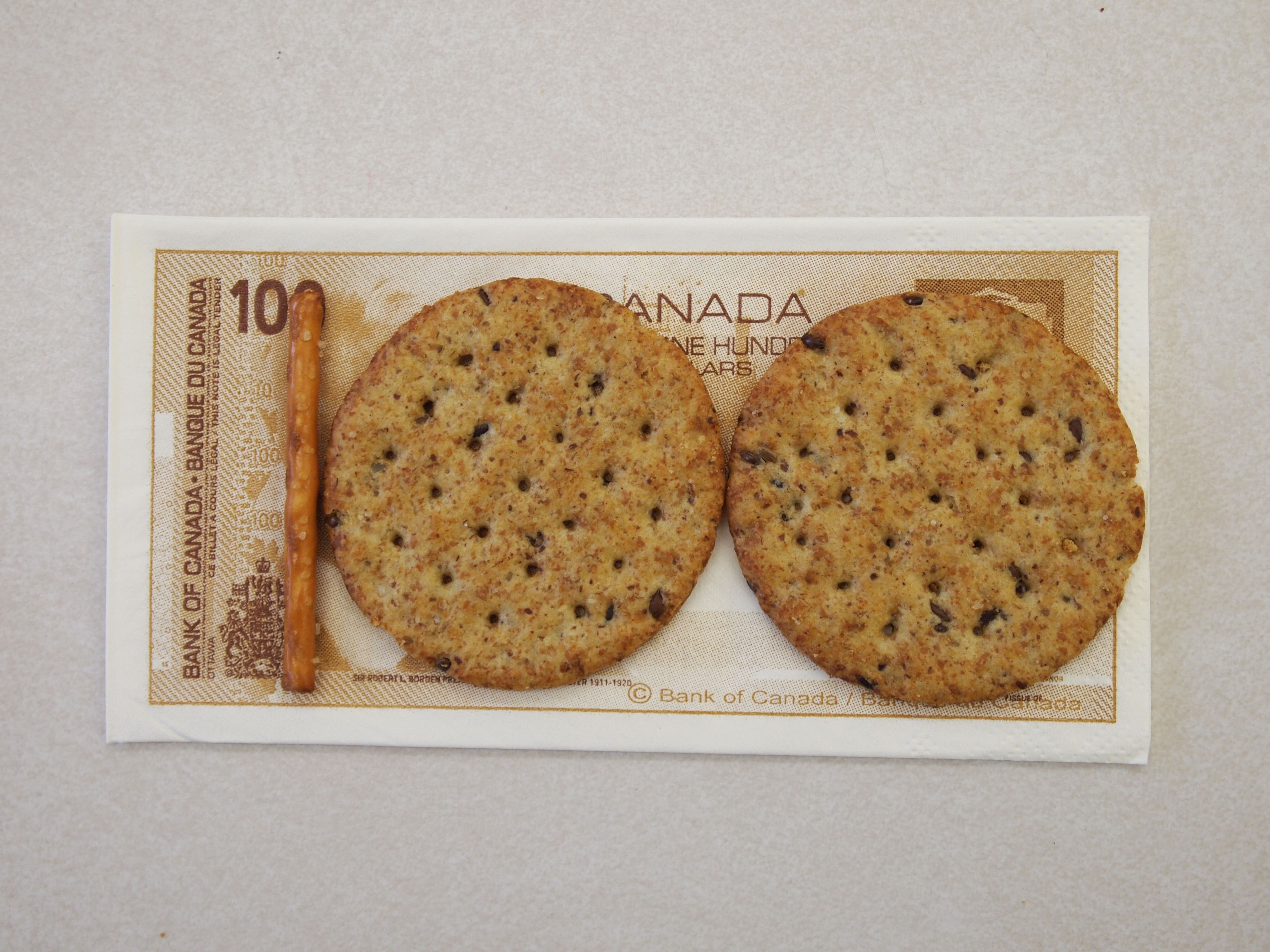 100th Day Snack On A 100 Dollar Bill Napkin