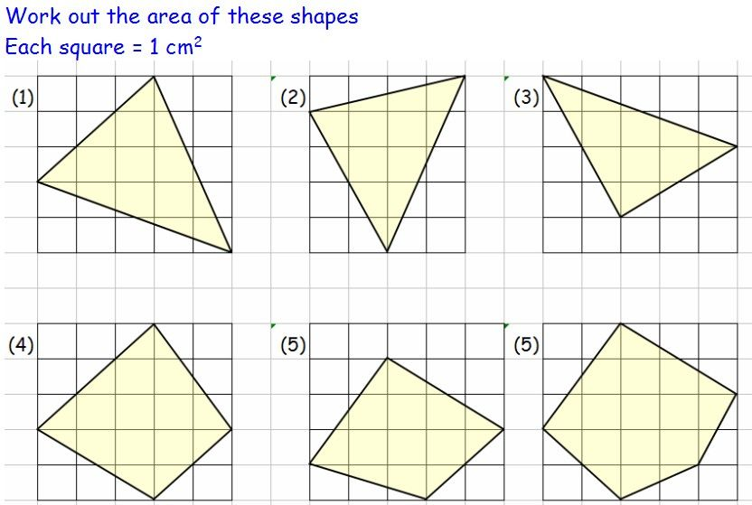 Compound Area worksheets | Areas of irregular shapes on grids ...