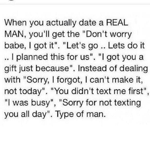 Dating a real man