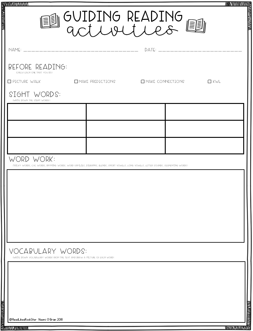 - Guided Reading Activities Freebie (With Images) Guided Reading