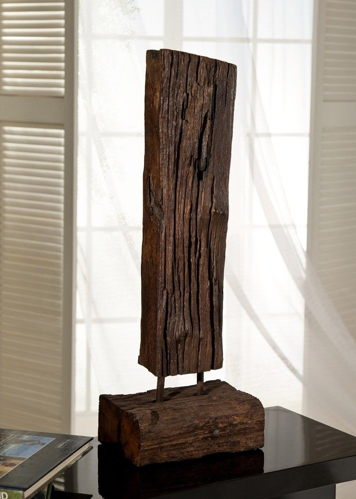 Altholz Skulptur Aus Bahnschwelle 60,0 Cm Holz Teak Massiv 21274. Buy Now At