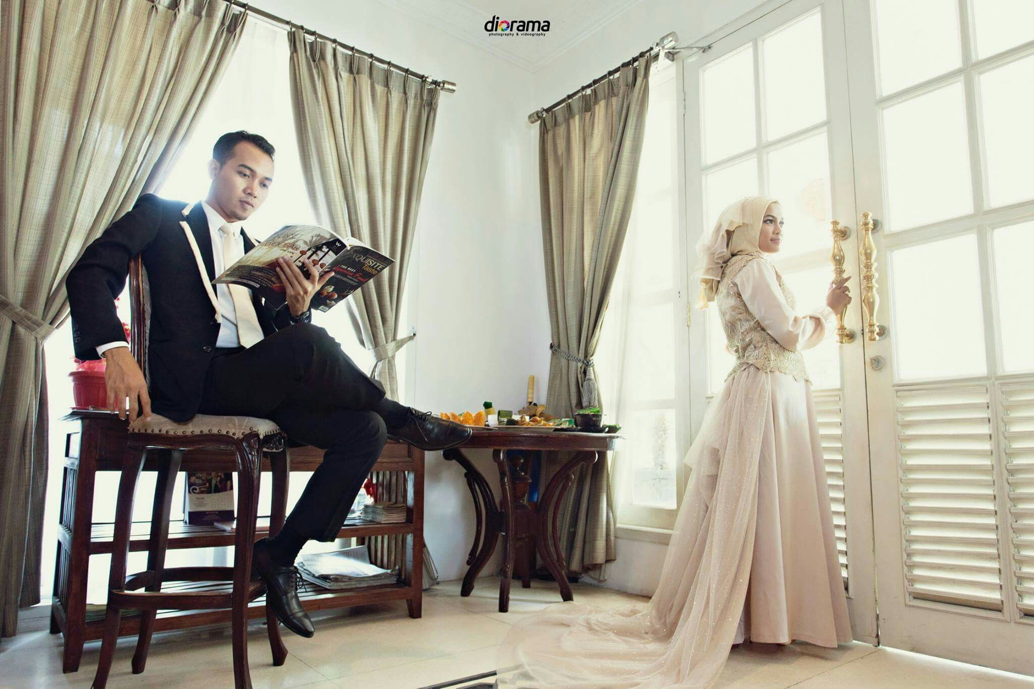 Prrwedding, Engagement, Modern, Hijab, Elegant, Indoor