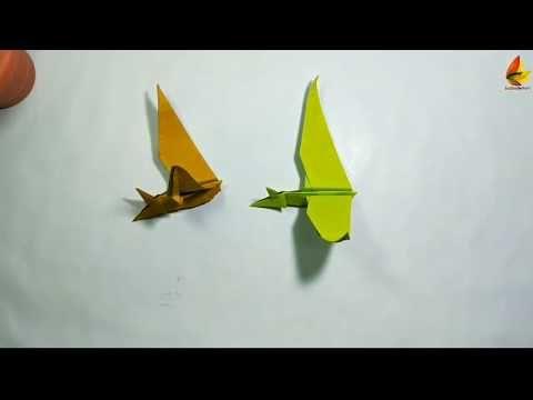 Photo of Origami Dinosaurier – Zeitraffer    Origami-Pterodaktie    DIY