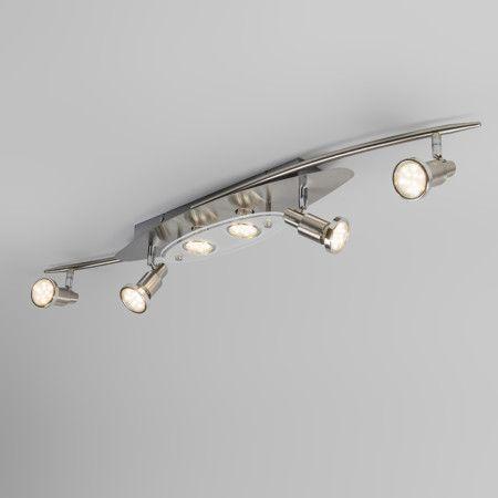 Spot Deckenleuchte Estelle 6 LED Stahl Deckenlampe Lampe Innenbeleuchtung Wohnzimmerlampe