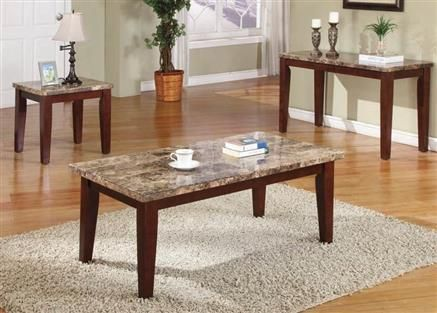 Granada Brown Wood Marble Stone End Table End Tables Pinterest