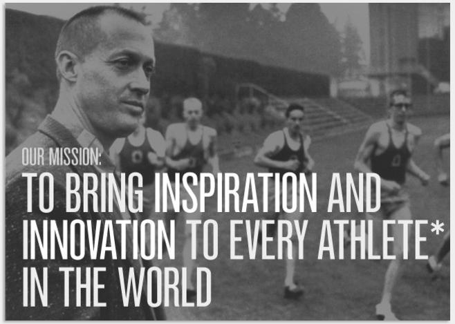 perder mudo Naturaleza  Nike's mission inspiration | Mission statement, Brand purpose, Mission