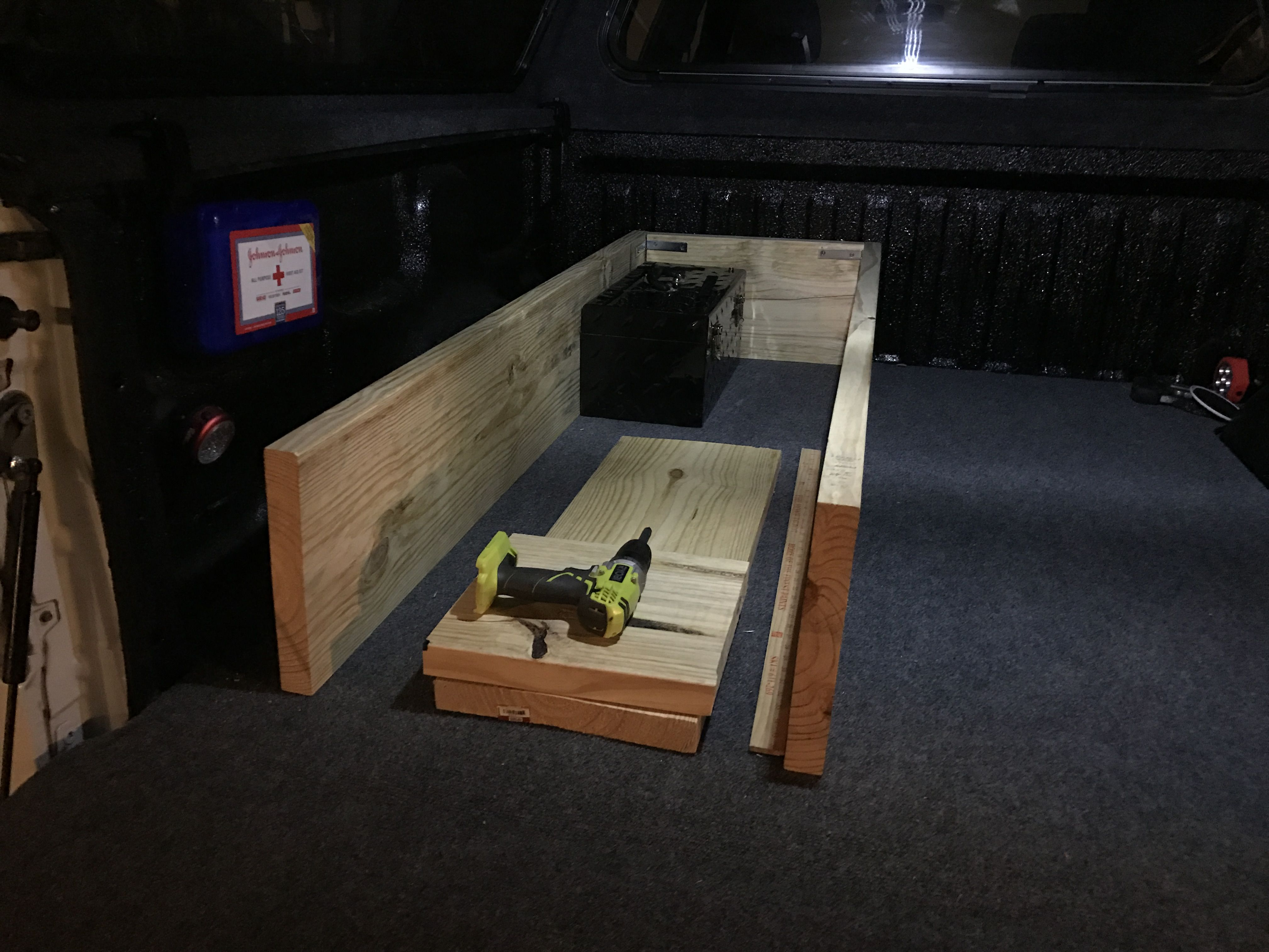 Used 2x12 S And 3 4 In Plywood To Build The Box Secured 12