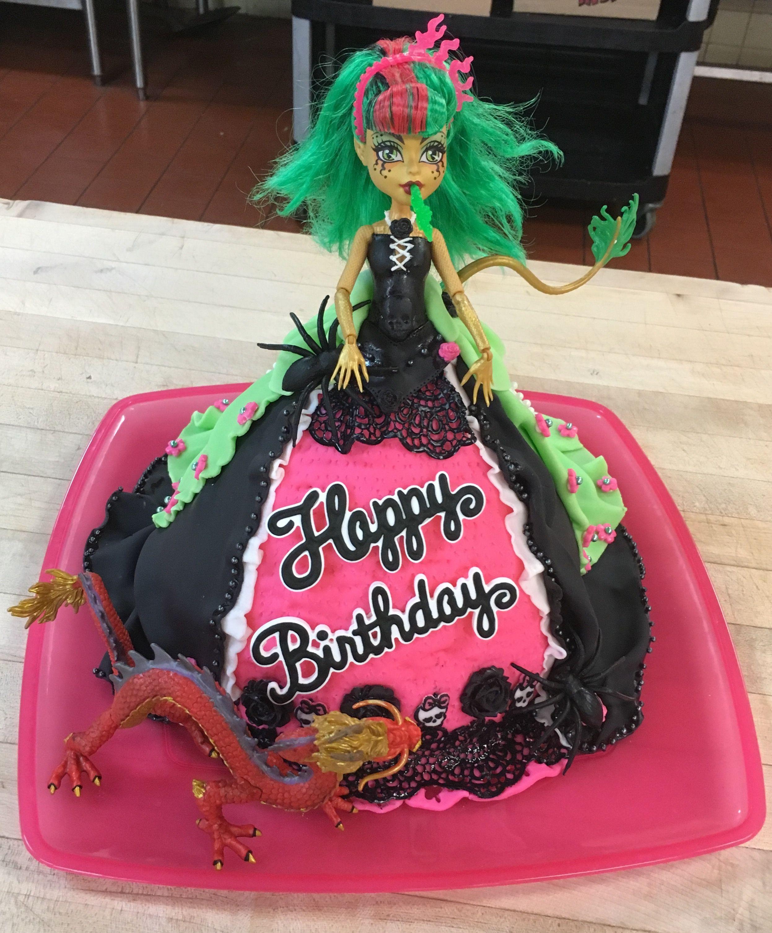 Monster High Jinafire Long Birthday Cake Made By Natalie Monster