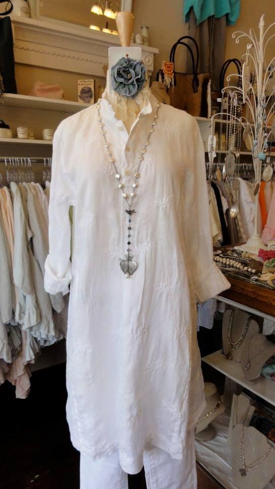 12fe339d4b9 CP Shades Jasmine Tunic in White Embroidered. fb.com/mimibellafinelinenwear