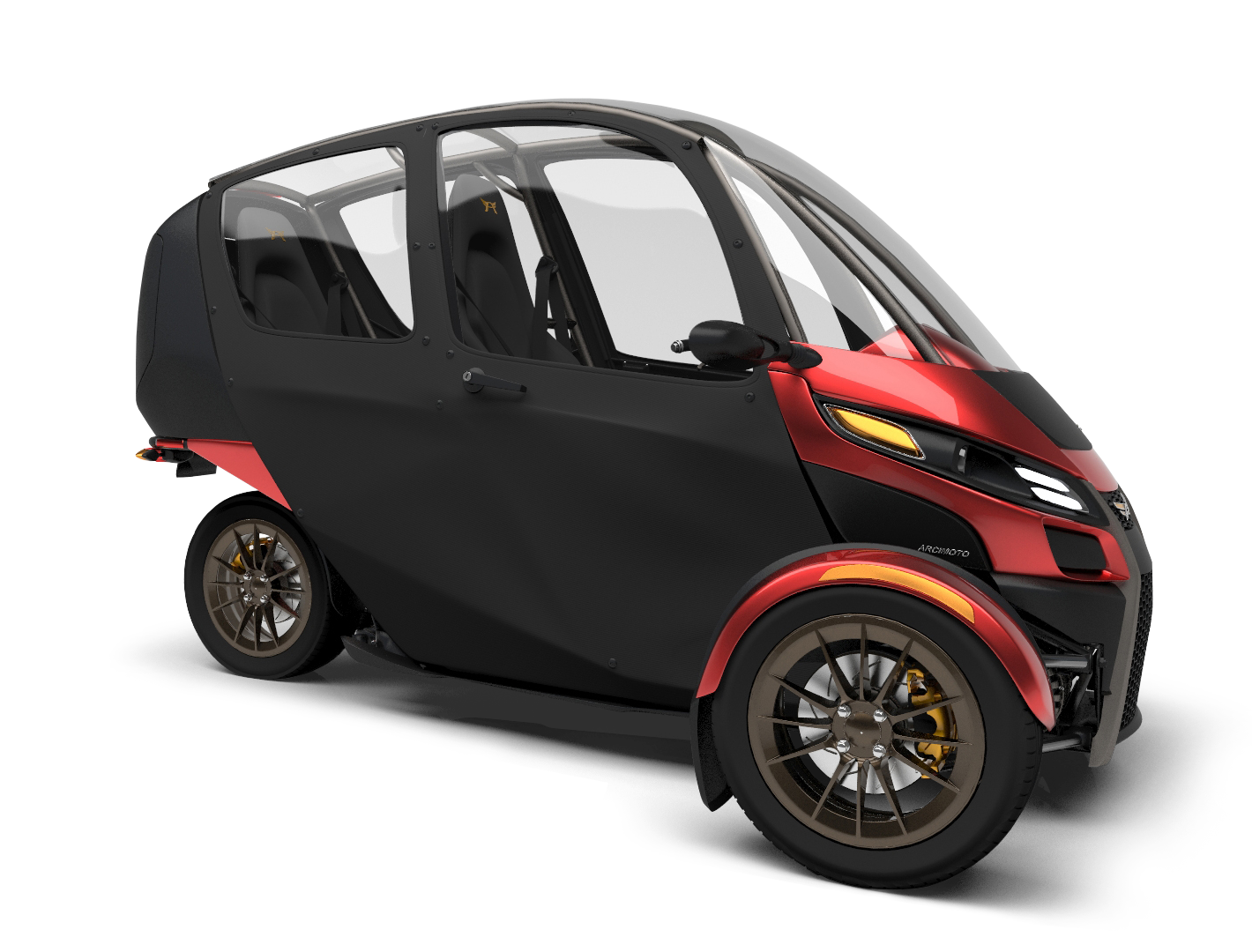 Arcimotos Eighth Generation SRK Three Wheeler Seems To Be One Of The Most Alluring Urban Commuting Solutions For Two Especially As It Comes With A Neat