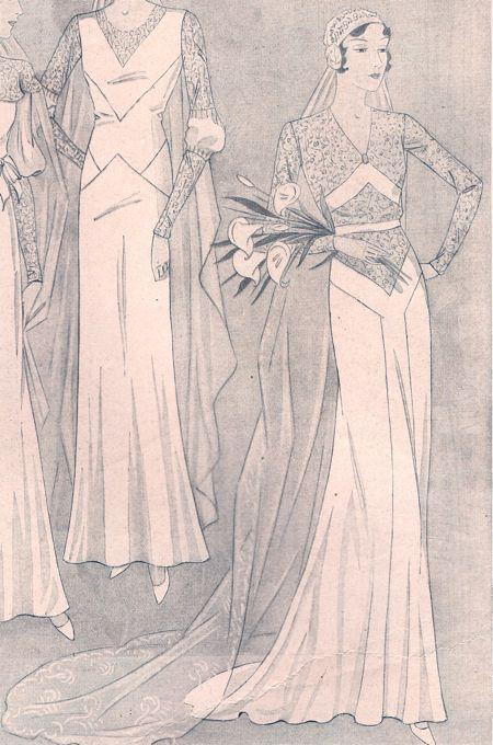 Novias de ayer: Patrones antiguos | Vestido novia vintage, Novias ...