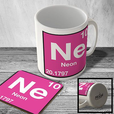 Macelem035 10 neon ne element from periodic table mug macelem035 10 neon ne element from periodic table mug and coaster set mugs kitchenalia urtaz