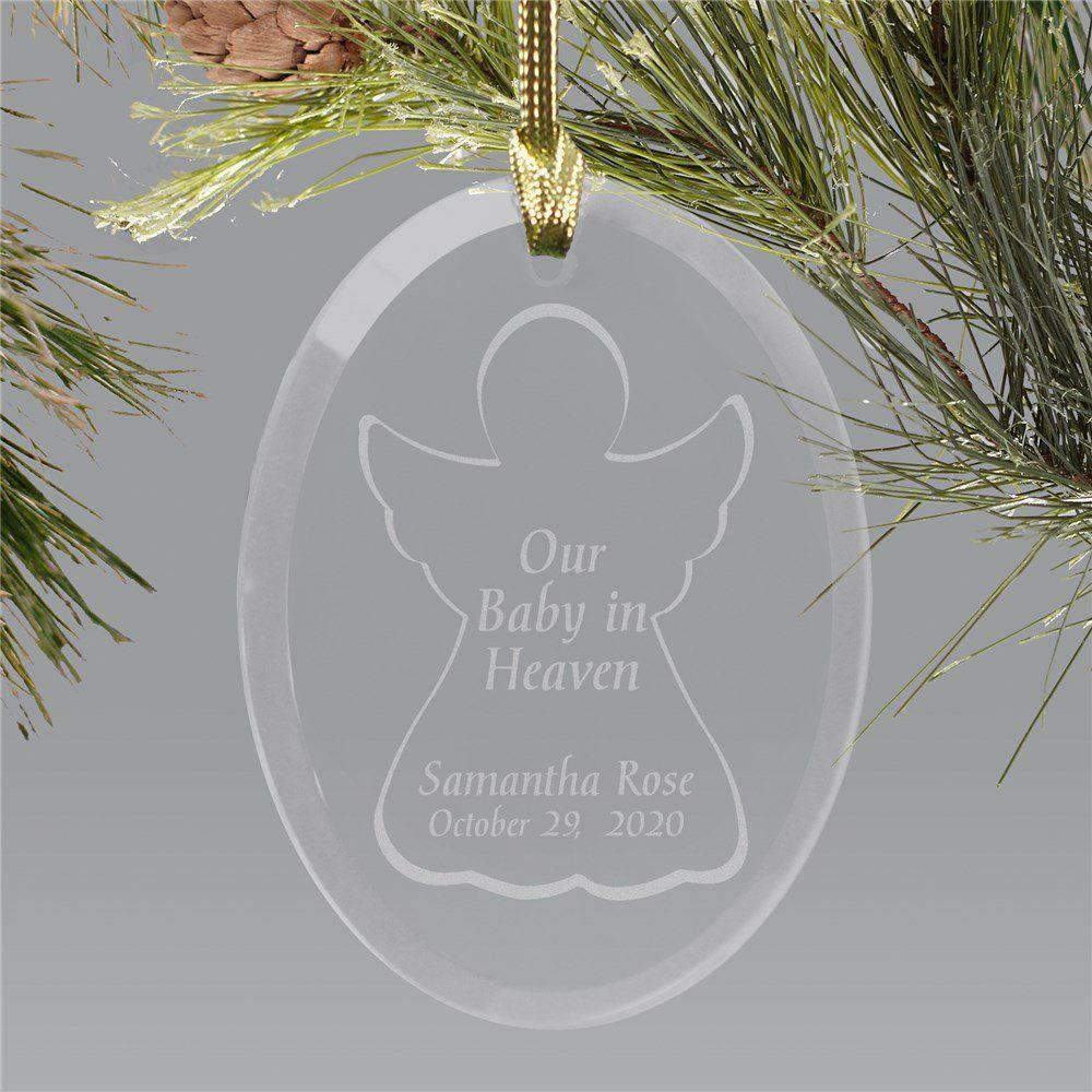 Baby In Heaven Engraved Custom Ornament Christmas Ornaments Memorial Ornaments Custom Ornament