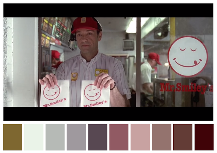 Twitter accountCinema Palettes takes screenshots from classic films and translates them to ten-part color palettes. Though…