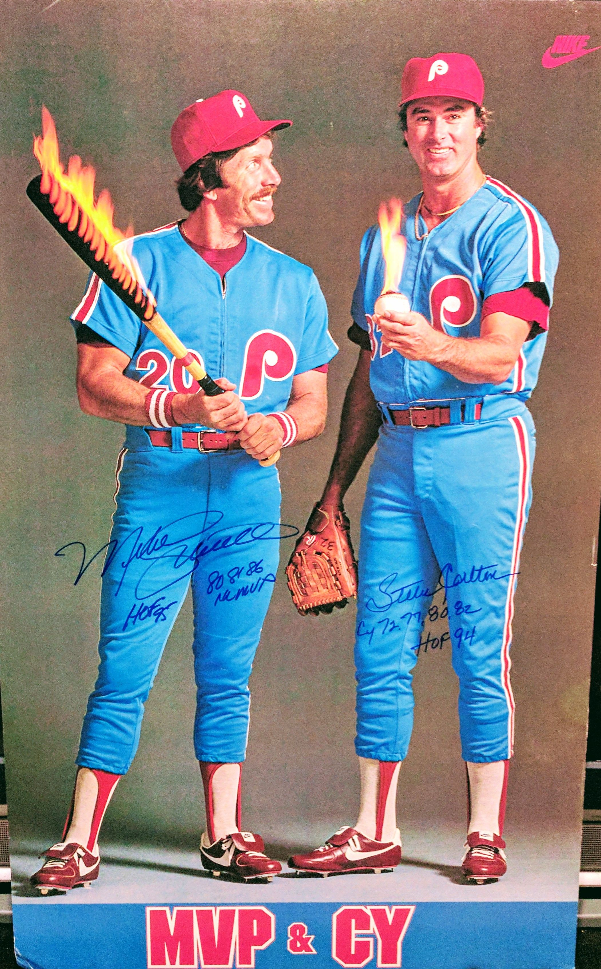 Mike Schmidt And Steve Carlton Nike Mvp Cy Poster Athlete Quotes Sport Poster Baseball Pictures