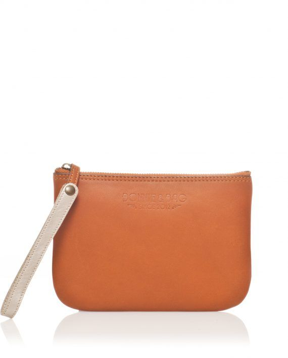 Pochette multifonctions cuir naturel   cuir Cognac   Tan leather  multifunction pouch - Bonnie and Bag a179d6a3abe
