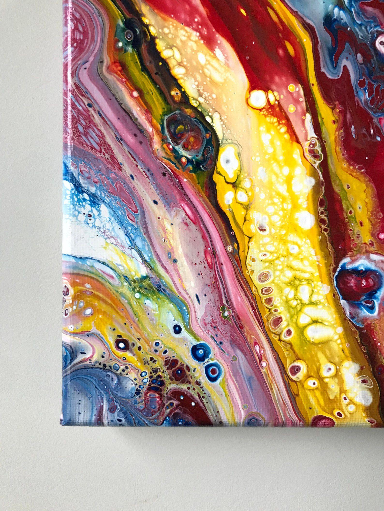 22 10 Pouces Carre Acrylique Versez Peinture Acrylique Peinture Pouring Peinture