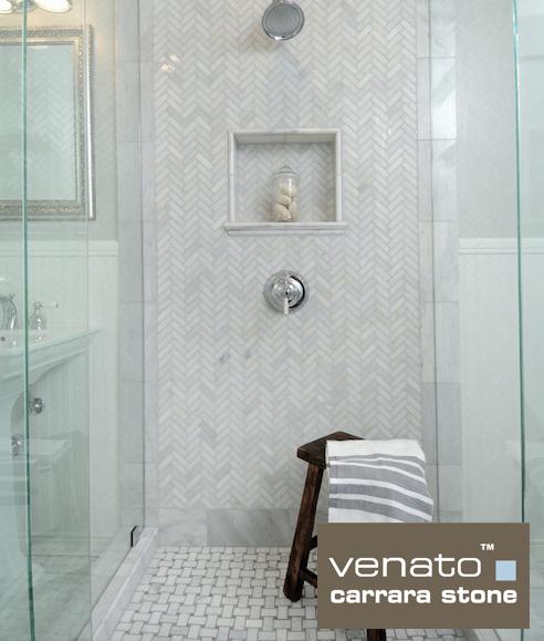 Venato Marble Shower With 1 215 3 Herringbone And Basketweave